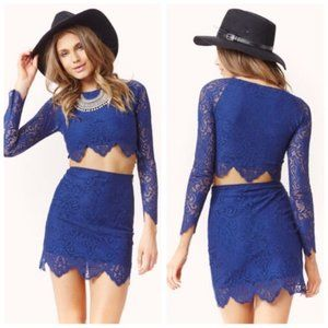 For Love and Lemons Midnight Crop Top Sz L